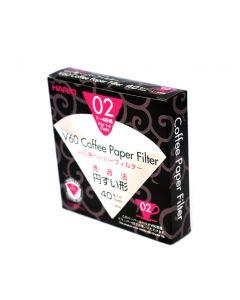 HARIO V60 Papirfilter for Håndbrygger 02 (40 stk)