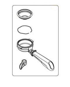 Expobar Filterholder Komplett Enkelpip