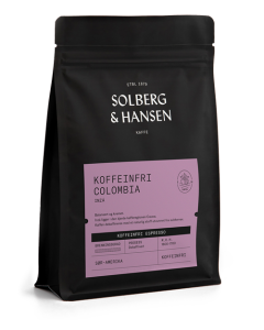 Solberg & Hansen Koffeinfri Espresso Columbia - Inzá Hele Bønner 250g