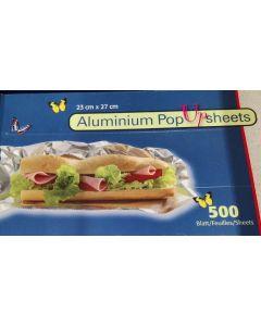 Aluminiumsfolie ark 500stk Pop-up sheets 23cm x 27cm
